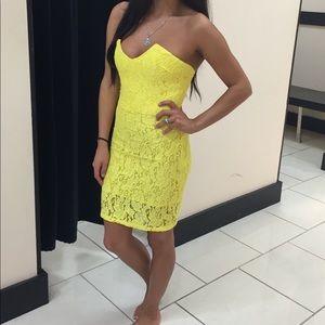 Yellow Bebe dress